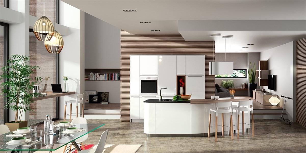 Cuisine contemporaine gamme alicante barcelona tv for Couleur mur tendance fort de france